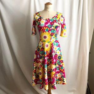 Lularoe floral midi dress Easter spring size:S